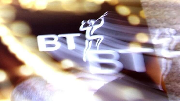 Glowing BT logo