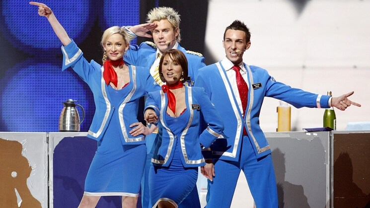 Pop group Scooch represent the United Kingdom at Eurovision